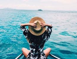 visuel océan chapeau inspiration beach