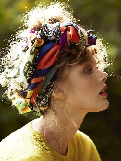 foulard look élégant