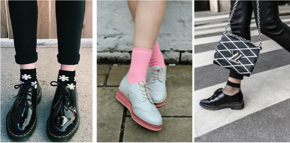 look chaussettes derbies