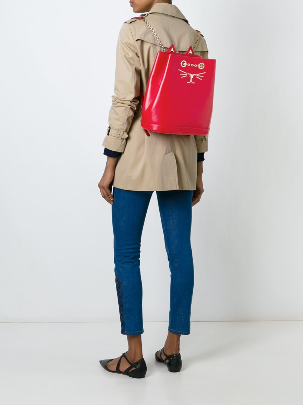 sac à dos rouge charlotte olympia