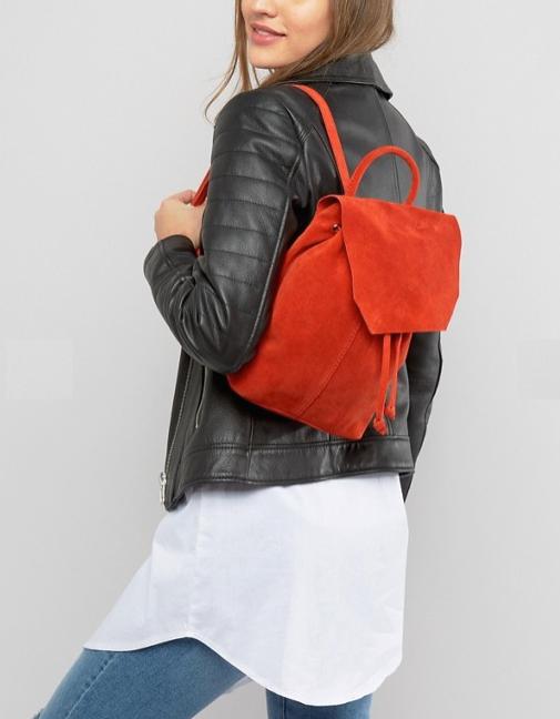 sac à dos rouge asos