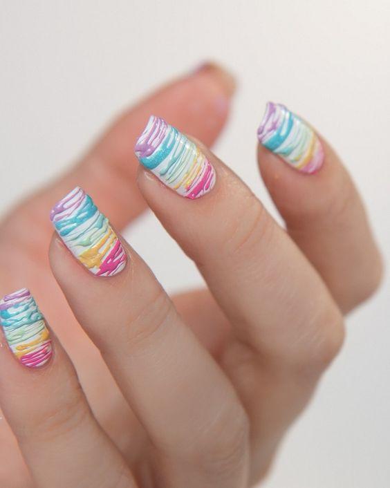nail art coloré été