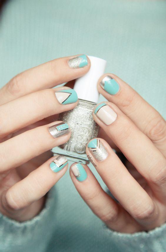idée nail art couleurs pastels