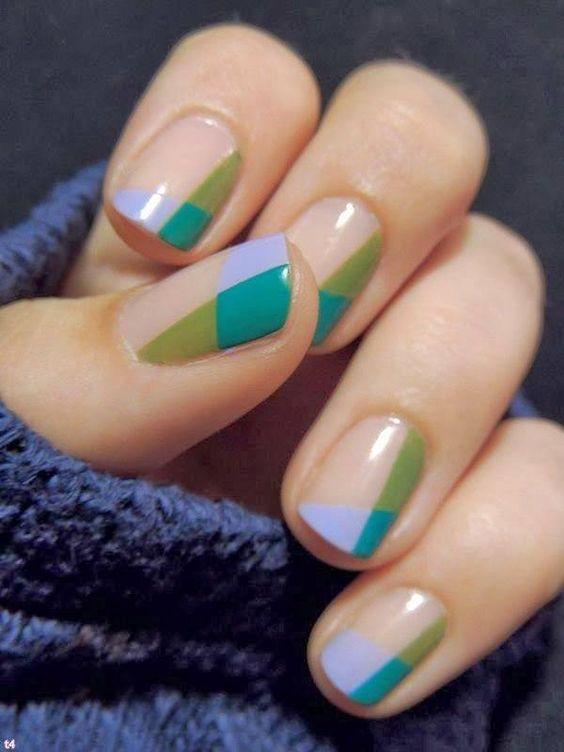 idée nail art graphique