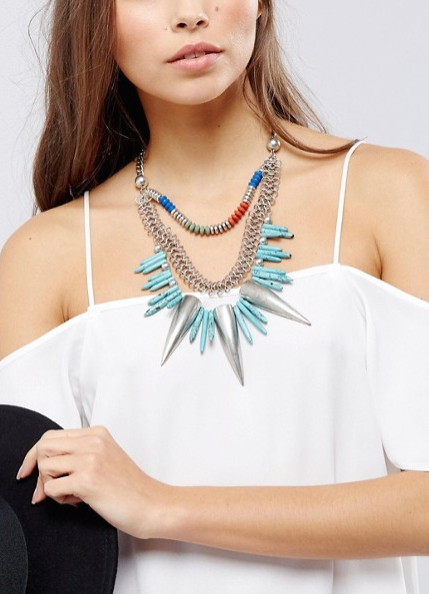 collier plastron ethnique