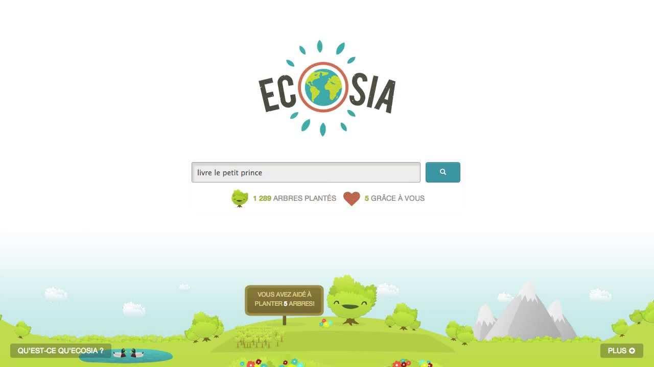 ecosia moteur de recherche arbres