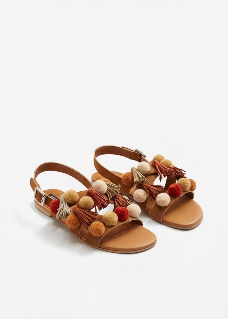 sandales plates été