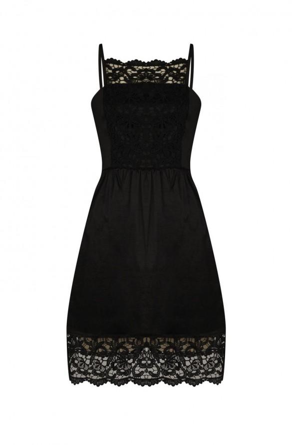 robe noire en solde