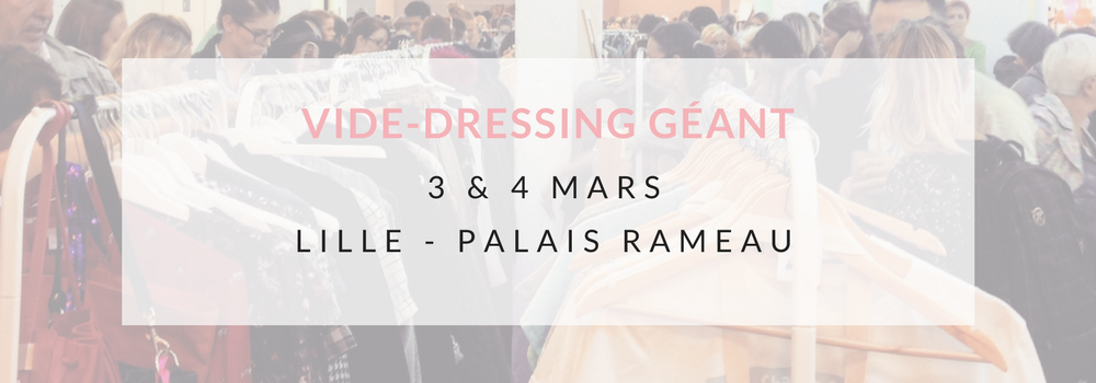 vide dressing violette sauvage à Lille le 3 et 4 Mars 2017