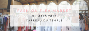 vide dressing géant Violette Sauvage Fashion Flea Market au Carreau du Temple le 31 mars 2018